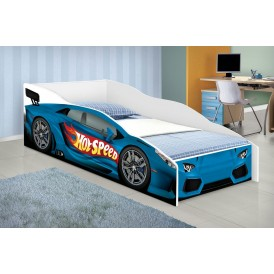 mini cama - hot speed azul